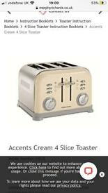 Morphy Richards 4 slices toaster and kettle