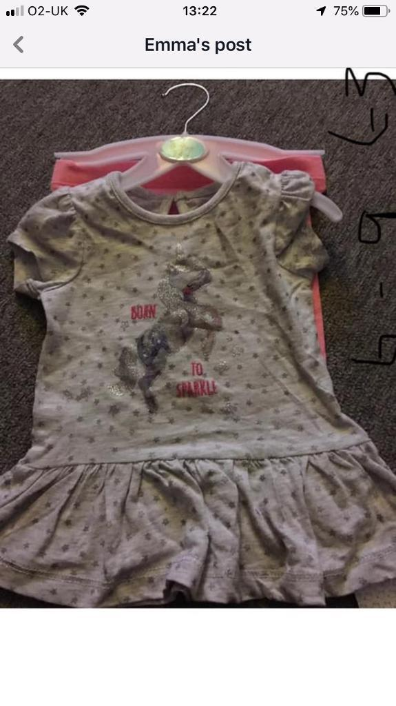 ee9210e1dd70 Baby girl unicorn outfit 6-9 months