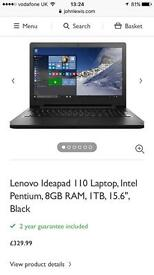 Brand new Lenovo Ideapad Laptop, 8gb RAM 1TB HDD