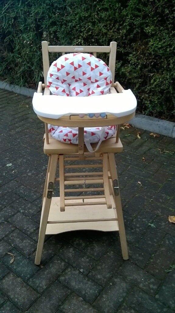 *URGENT* Wooden high chair 2-in-1