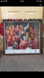Man Utd Framed picture