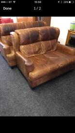 Tan 3 seater and 2 seater sofas can deliver