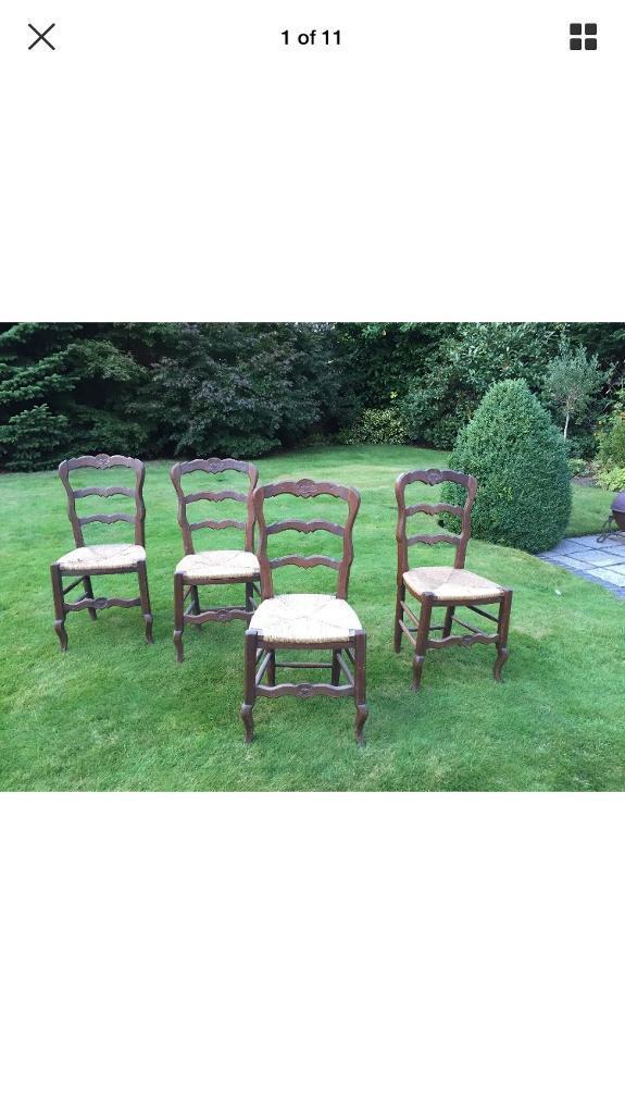Set of 4 French chairs