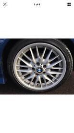 "Bmw 18"" genuine mv1 front wheel 8j 225 40 18 e46 sport e90 3 series single"