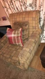 Burberry tartan chair.