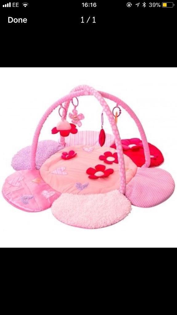 Pink baby play mat