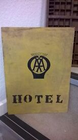 quirky old hand made sign
