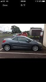 Peugeot 207 cc THP 150 bhp GT turbo convertible Low mileage