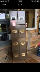 Vintage Army filing cabinet