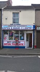 Off licence shop for lease Shildon - busy High street location