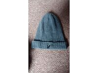 Men's/boy's dark grey Lyle& Scott wool beanie hat, New, never worn.