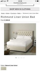 White company double bed