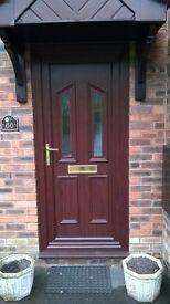 UPVC Rose wood doors and frames