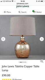 John Lewis Copper Table lamp