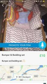 Bumper and bedding set