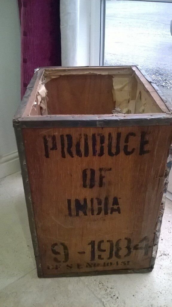 VINTAGE OLD TEA CHEST FOR UPCYCLING