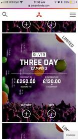 Creamfields 3 day SILVER camping ticket
