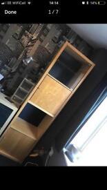 Tall wooden Ikea Unit