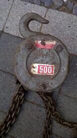 Chain Block and Tackle 500Kilos