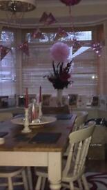 Farmhouse table 4 chairs £150 Ono