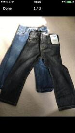 2 pairs of boys trousers age 2-3 years