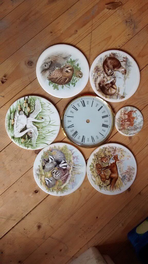 Tiles with animal/bird pictures. For use as inserts for teapot stands/coasters