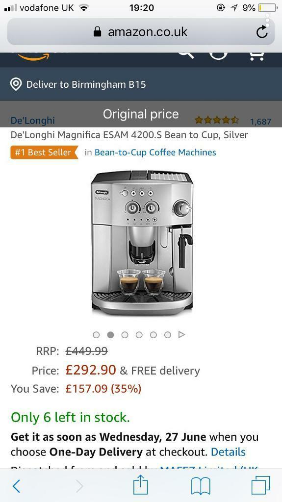 Delonghi magnifica silver coffee makerin Sandwell, West Midlands - Only used few times, steamed milk feature, jug to steam milk included, coffee beans and filter coffee included