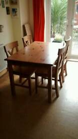 Solid wood dining kitchen table