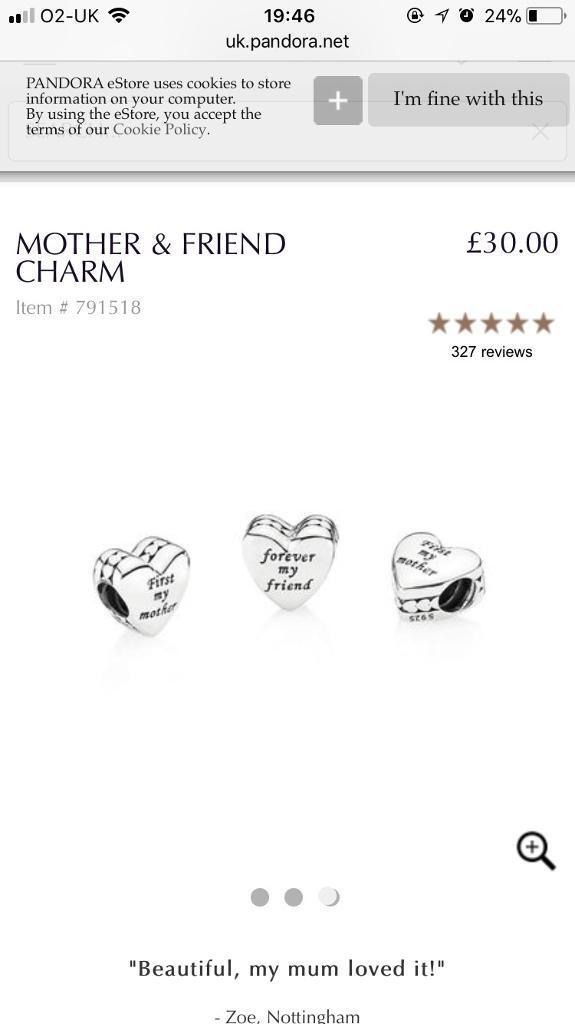 797a6285f Pandora 'first my mother, forever my friend' charm | in Norwich, Norfolk ...