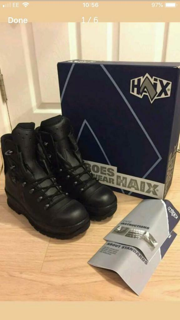 5252320a63d Haix chainsaw safety boots uk size 8 brand new | in Bolsover, Derbyshire |  Gumtree