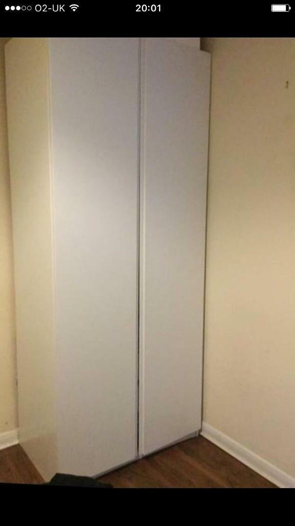 Reduced White 2 Door Wardrobe Free Delivery Extra Tall