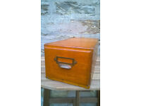 Vintage wooden single filing drawer perfect for storage TR4 £30