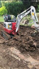 Groundwork. Mini diggers. Plant hire.
