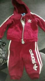 Baby boys adidas tracksuit 3-6 month