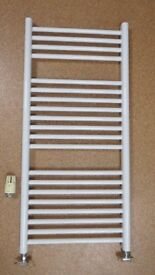 White Ladder Radiator with Thermostatic Valve, in very good condition
