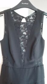 Nearly New Gorgeous Black Miss Selfridge Jumpsuit