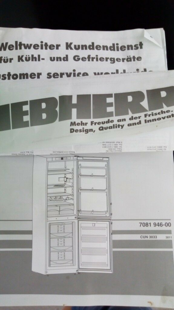 Liebherr Fridge Freezer Spare Shelves And Drawers In Warwick