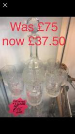 Decanter and glasses set now £35