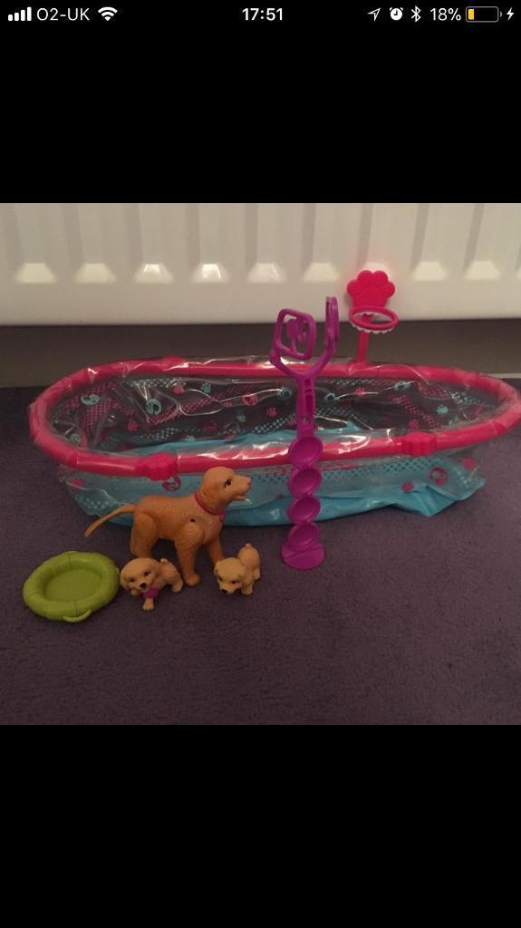 Barbie pup swimming pool