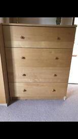 Wooden chest draws