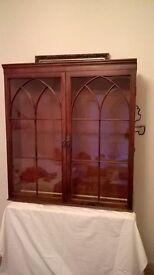Antique display cabinet.