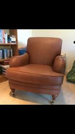 M&S tan leather armchair