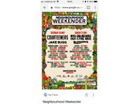 2 neighbourhood weekender vip tickets