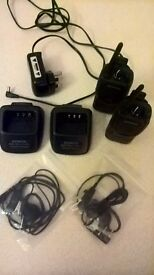 KENWOOD KSC-35 , Two hand units, two charge docks, headphones in vgc