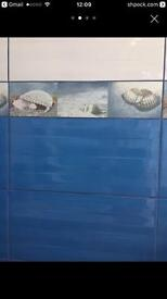 Ceramic Wall Tiles 3D Modern Blue 4.82 m2 New