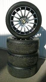"""15"""" Diamond cut alloy wheels"""
