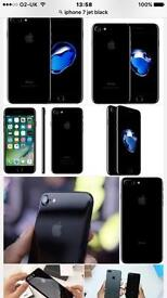 iPhone 7 jet black mint condition tempered glass