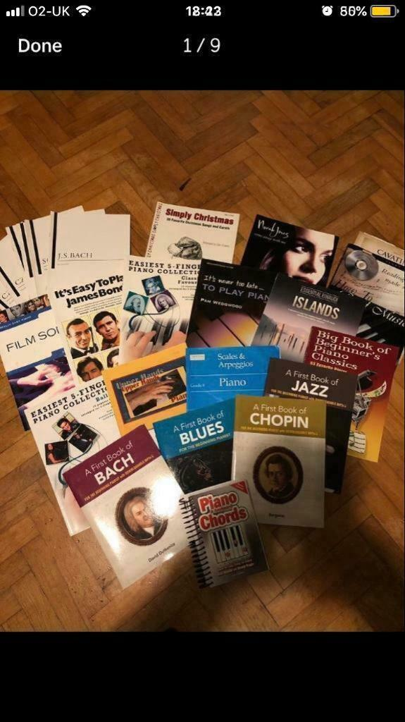 9089ee1df5 Piano music books