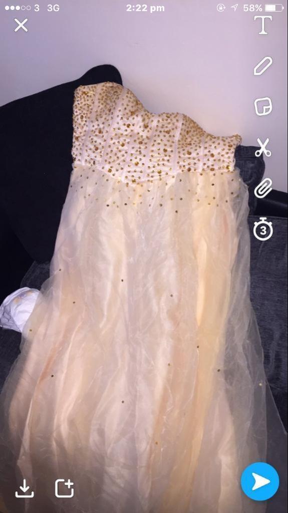 Beautiful prom dress & accessories