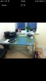 Ikea desk. Great condition. Moved home so not needed. Desk has already been dismantled.